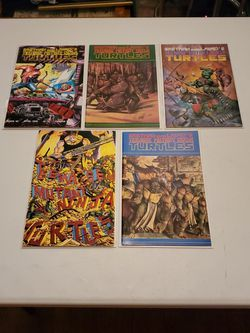 Teenage Mutant Ninja Turtles Book 30, 31, 33, 34, And 35, Eastman And Laird's, Mirage Studios First Print Comic Book High Grade Lot, Raw Ungraded. for Sale in Fresno,  CA