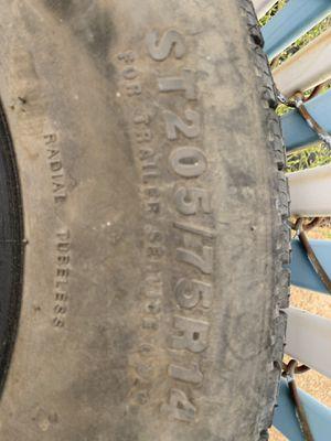 205/75/14. Trailer tires. Radial. Half tread for Sale in Ellisville, MO