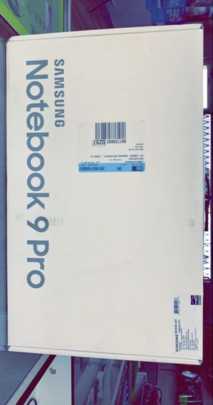 """Samsung Notebook 9 Pro (15"""" Touch Display) i7-8th Gen with 256GB SSD! (Brand New in Box!) for Sale in Arlington, TX"""