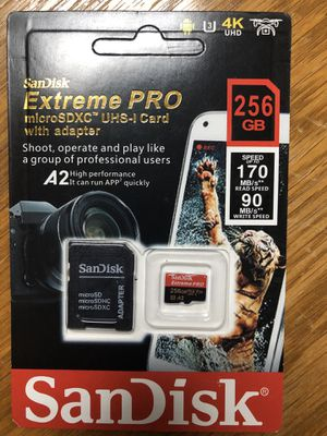 SanDisk Extreme Pro Micro SD Card 256 GB for Sale in Philadelphia, PA