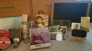 Rustic themed decorations, chalk boards and baskets for Sale in Silver Spring, MD
