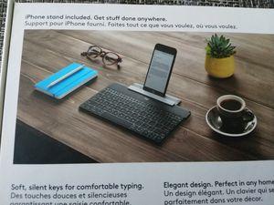 Logitech wireless keyboard keys to go for iPhone iPad Apple TV NEW for Sale in Fort Lauderdale, FL