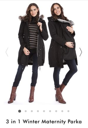 Seraphine 3 in 1 Maternity Parka- kangaroo cover included , size 10, MSRP $265 for Sale in Westlake, MD