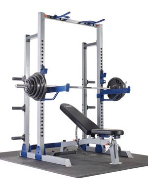 Power Rack, 7'ft bar 300lbs Olympic weight sets , weight bench 600 lbs cap ,home gym for Sale in Cerritos, CA