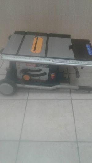 10 inch ryobi rolling table saw for Sale in Fort Lauderdale, FL