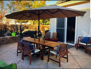 NEW- 15.5 ft Diameter outdoor backyard patio sunshade poolside cover your lounge chair Day, daybed, BBQ Grill, Furniture NOT included for Sale in North Miami Beach, FL
