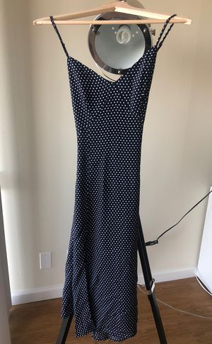 Navy blue polka dot dress size S for Sale in San Mateo, CA
