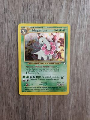 Neo Genesis Meganium 10/111 Rare Holo Pokemon Card WOTC for Sale in Davenport, FL