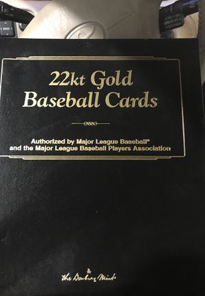 22kt gold baseball card collection 50 cards for Sale in Stockton, CA