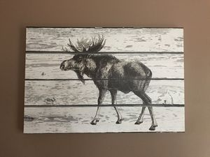 Moose print - 32 X 48 for Sale in Dunstable, MA