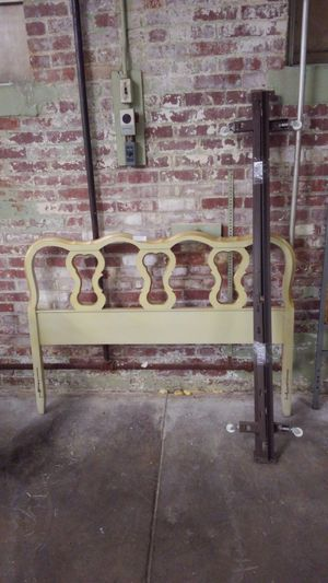 Full size French provincial bed and frame for Sale in Shoemakersville, PA