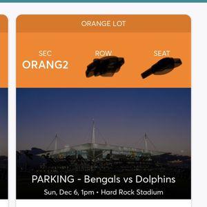 Dolphins Vs Bangles Orange parking 12-6-20 for Sale in Fort Lauderdale, FL
