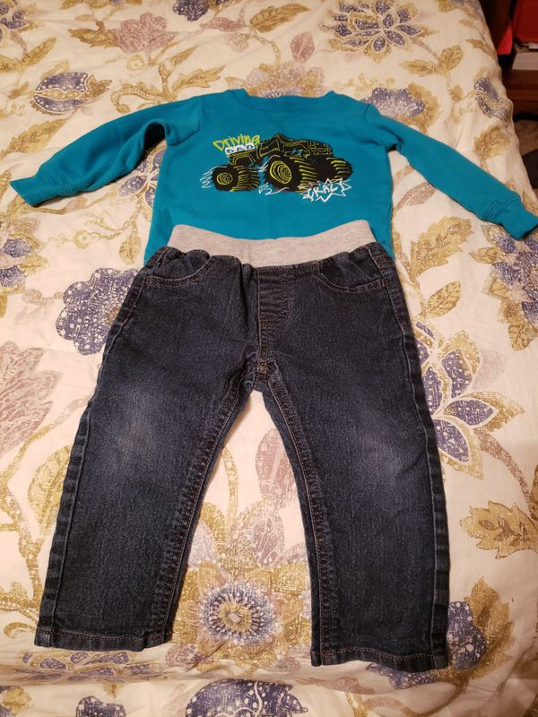 12 month Jeans and thermal long sleeve shirt