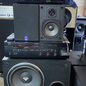 YAMAHA STREAMING STEREO MUSIC MOVIE SYSTEM WITH BLUETOOTH/SONY CD PLR/CERWIN VEGA BOOKSHELF SPEAKERS AND SUBWOOFER/REMOTES🔊 for Sale in Walnut, CA