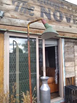 Artisan made industrial indoor/outdoor lamp for Sale in Prineville,  OR