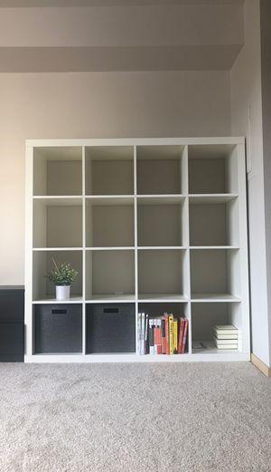 IKEA KALLAX 4 X 4 tier shelf unit shelving unit storage cubes for Sale in Kirkland, WA