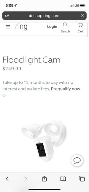 Ring security floodlight camera for Sale in South El Monte, CA