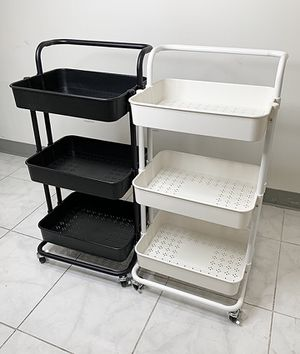 """(NEW) $30 each 3-Tier Rolling Utility Cart Mobile Storage Oranizer Home Office 17x14x34"""" (2 Color) for Sale in Pico Rivera, CA"""