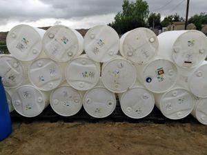 55 gal close top barrels with caps food grade for Sale in Perris, CA
