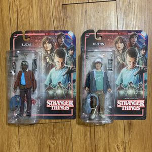 Lot of 2: Stranger Things Dustin & Lucas Action Figures for Sale in Garden Grove, CA