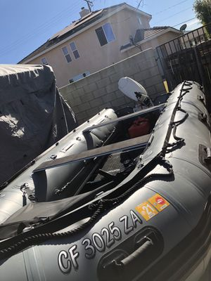 "Zodiac style boat 18ft long 24"" tubes super stable for Sale in Lakewood, CA"