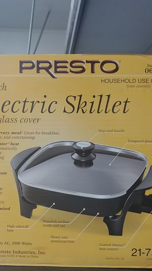 Electric Skillet w/ glass cover for Sale in Anaheim, CA