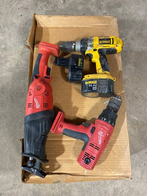 Old Milwaukee sawzall and drill old 14.4 Dewalt drill for Sale in Downers Grove, IL