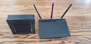 Asus RT-N66U N900 wireless router and Motorola surfboard SB6120 for Sale in Hayward, CA
