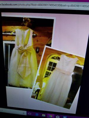 David bridal flower girl dress. Size 6. Little girl sash pimk for Sale in Kittanning, PA