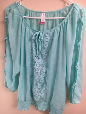 Aqua Top Lace and Gauze for Sale in Tallmansville, WV