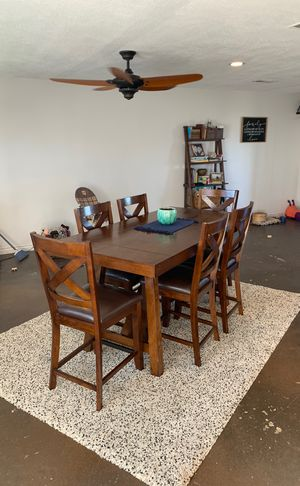 Bar height 8 person with removable leafs dining room table for Sale in San Diego, CA