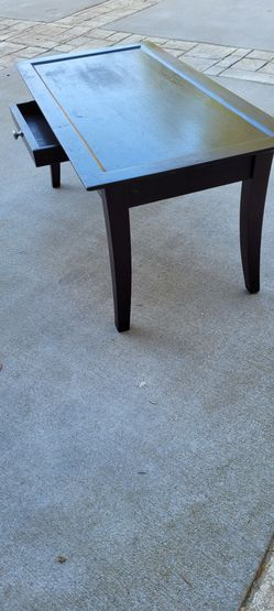 Solid Wood, Dark Coffee Table With Drawer for Sale in Gig Harbor,  WA