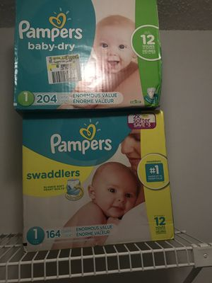 Size 1 pampers for Sale in Orlando, FL