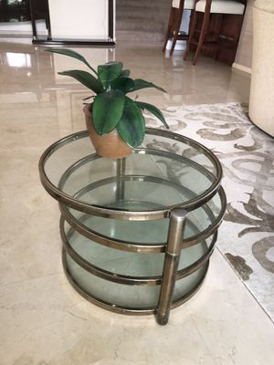 Coffee table / side table brass for Sale in Surfside, FL