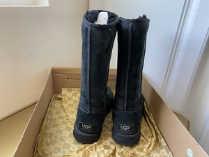 Ugg black Swede tall boots 6 for Sale in San Diego, CA