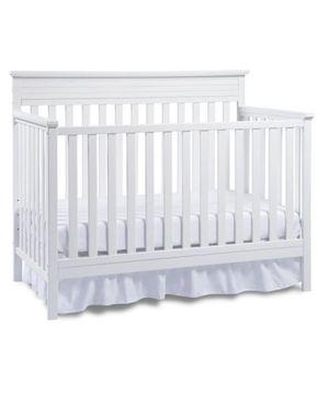 Fisher Price Convertible Crib Snow White and mattress for Sale in Greensboro, NC