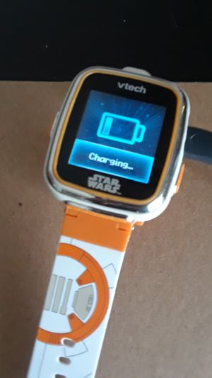 Vetch kids Starwars watch comes with a charger it can also take pictures and play games on it and it has a timer so you can wake up for Sale in Beaverton, OR