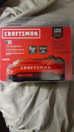 Craftsman battery new in box for Sale in Pasadena, TX