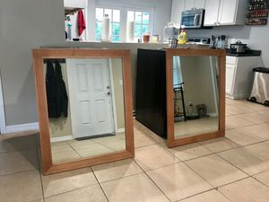 Two large brown framed mirrors for Sale in Riverview, FL