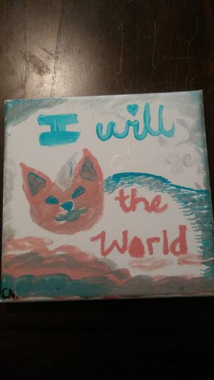 """""""I will change the World"""" Acrylic and oil pastel painting for Sale in Las Vegas, NV"""