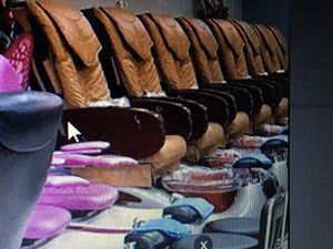 8 Adult Brown Pedicure Chairs, 1 child Pink pedicure chair for Sale in Colorado Springs, CO