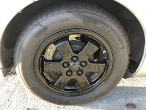 Toyota Prius rims 5x100 15x6 powder coated gloss black for Sale in Pleasant Hill, CA