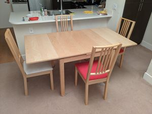 Ikea Extendable Dining Table and 4 Chairs for Sale in San Jose, CA