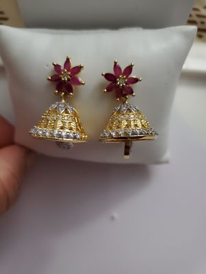 Ruby cz diamond earrings for Sale in Baltimore, MD