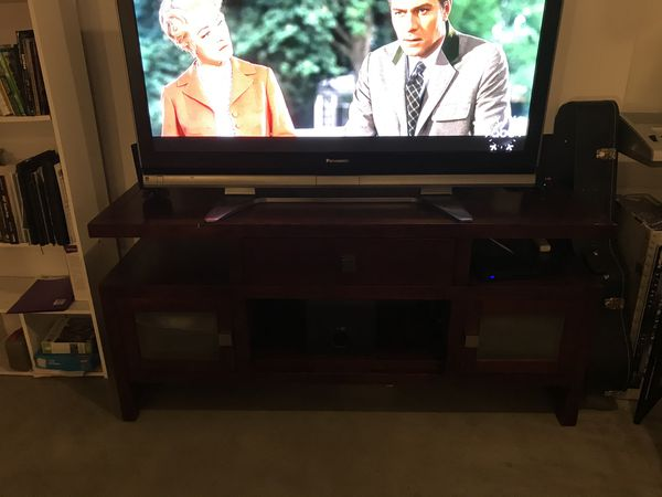 Wood Finished TV Stand