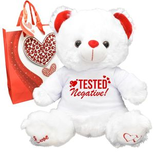 Tested Negative Valentines Day Teddy Bear for Sale in Redlands, CA