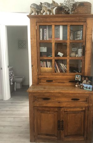 Beautiful tall antique wood armoire for Sale in Miami, FL