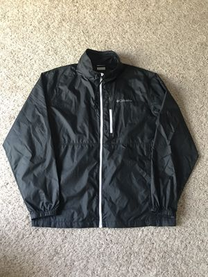 Columbia Lightweight Windbreaker Jacket Parka Black Large Used for Sale in Las Vegas, NV