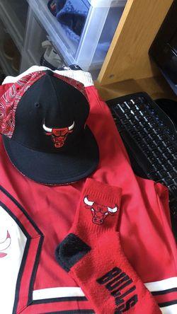Chicago Bulls Shorts Socks Hat for Sale in Hallandale Beach,  FL