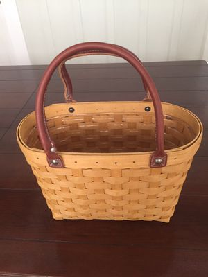 Longaberger Medium Boardwalk Purse + Protector for Sale in Alameda, CA